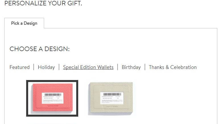 how to order gift card wallet on nordstrom