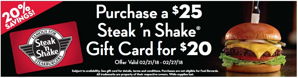 kroger deal on steak 'n shake