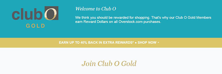 overstock club o program