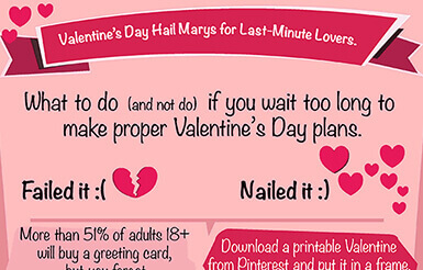 [Infographic] 6 Last-Minute Valentine's Day Hail Mary Gift Ideas