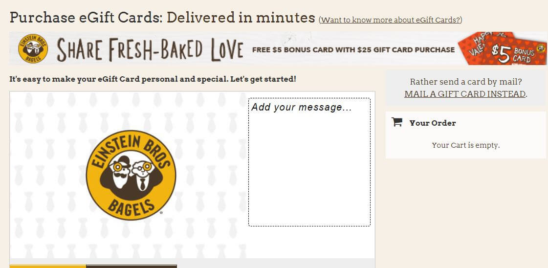 Einstein bagels gift cards
