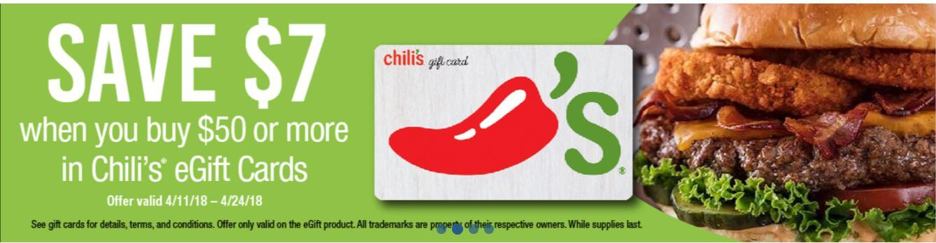 Chili's gift card on sale