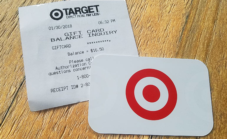 target gift card in exchange