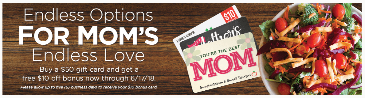garden fresh mothers day gift card deal