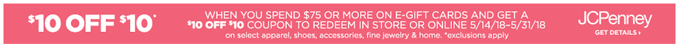 Free JCPenney Gift Card Offer
