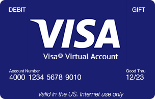 how to create visa card online free
