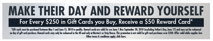 free Morton's gift card offer