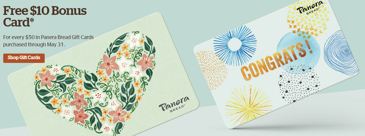 Free Panera gift card offer