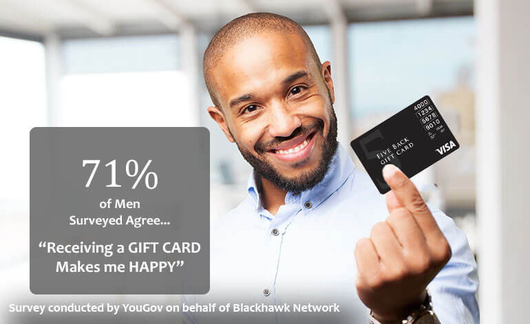statistics on how men feel about gift cards