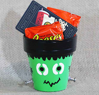 Halloween candy with gift card