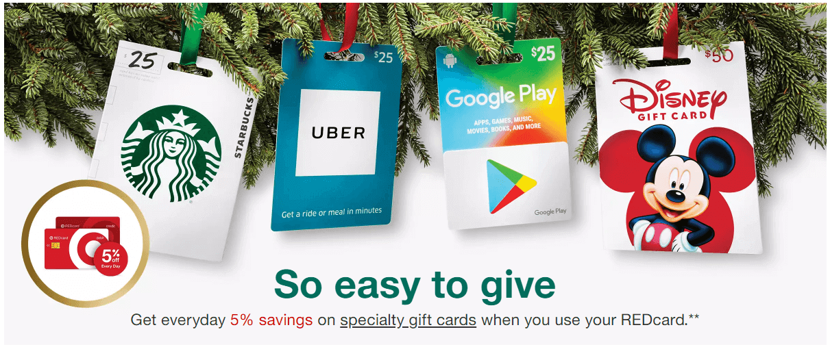 target gift card offer