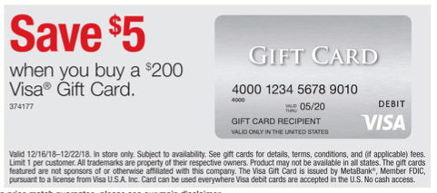 visa gift cards on sale at staples