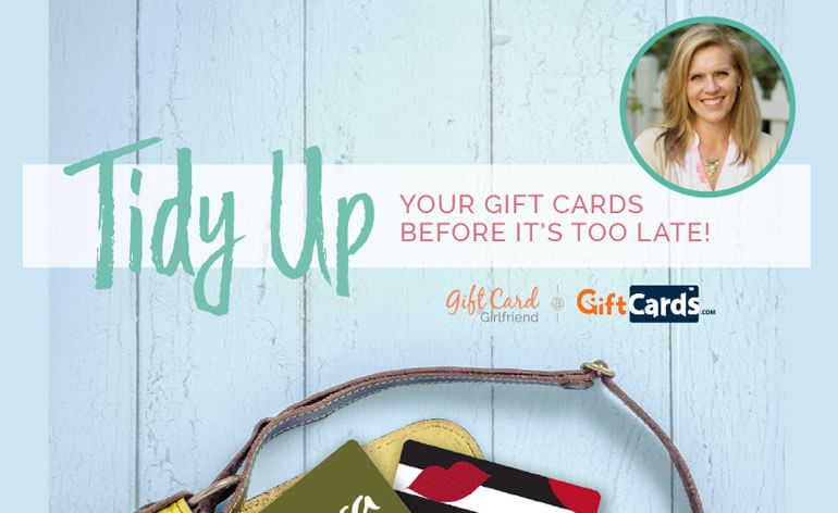 tidy up your gift cards