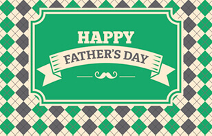 Green Argyle Happy Father's Day