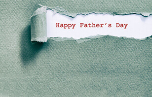 Happy Father's Day Green Paper