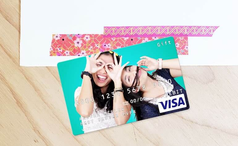 custom visa gift card with birthday image
