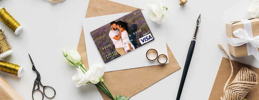 personalized gift card and other gift card designs for wedding