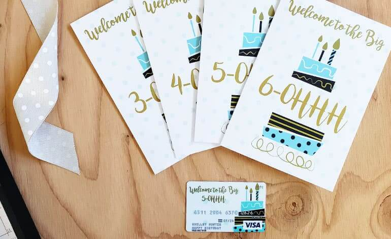Milestone birthday cards created