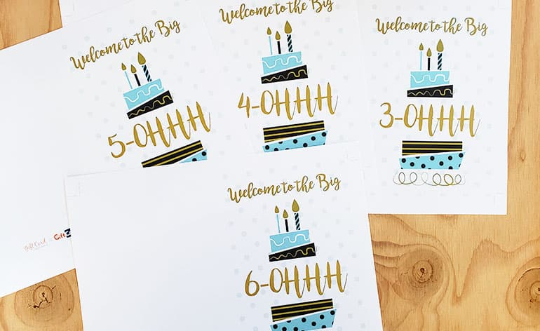 milestone birthday cards uncut