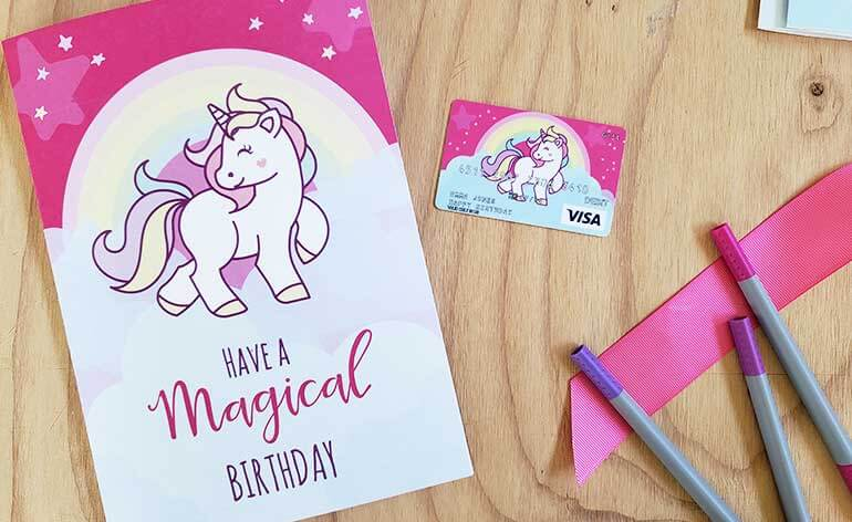 free unicorn birthday card large