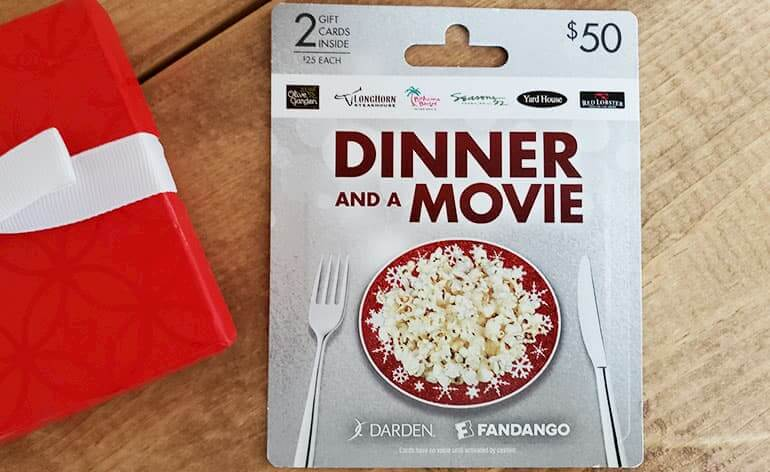 dinner and a movie gift card