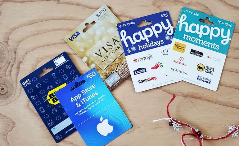 high dollar gift cards for holiday tipping