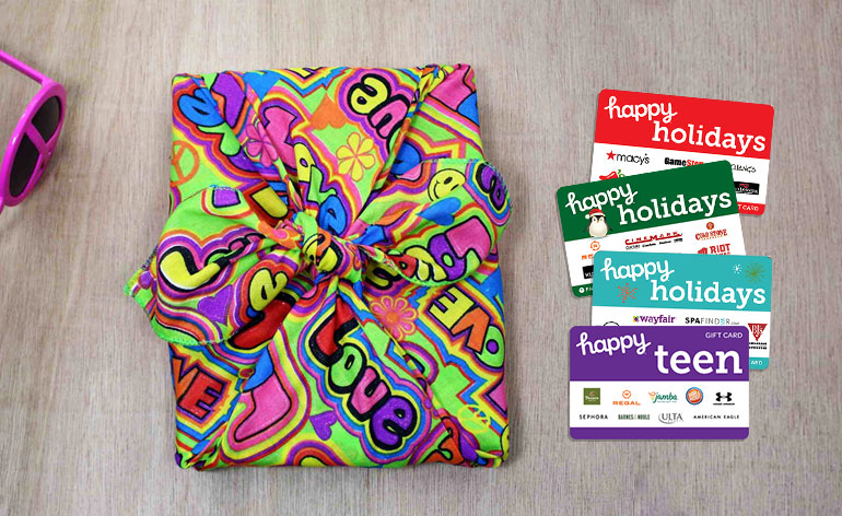 hippy holidays gift card with happy holidays gift cards