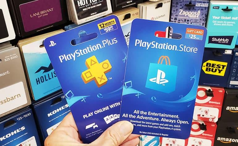 playstation gift cards