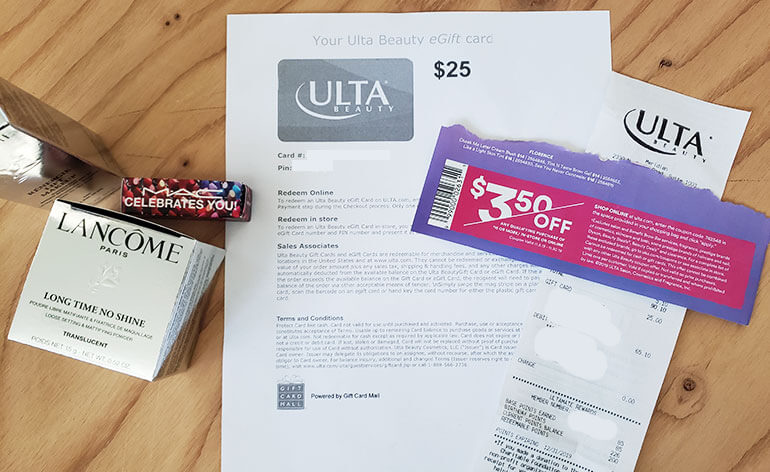 Ulta egift card and swap