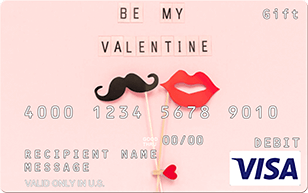 Be My Valentine predesigned Visa gift card