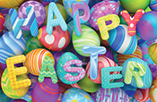 Happy Easter Gift Card Design