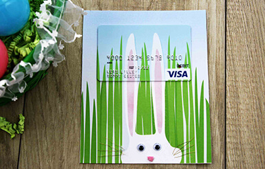 Hoppy Easter Gift Card Holder