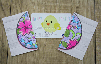 cracked egg coloring printable card holder