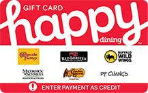 happy dining gift card