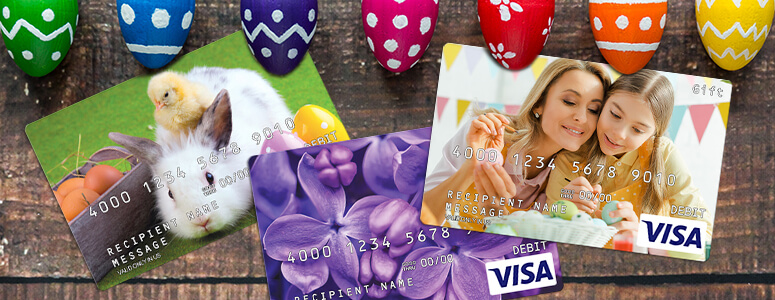 personalized gift card and other gift card designs for Easter