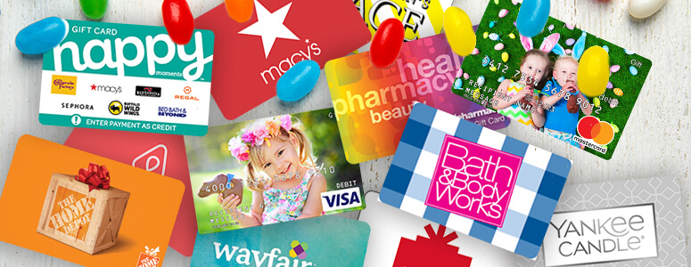 brand gift cards for Easter