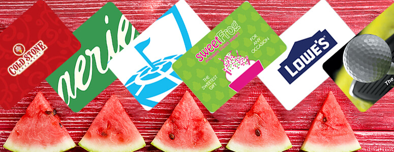 brand gift cards for Summer