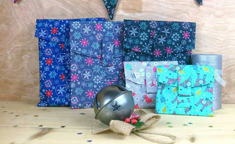 reusable gift bags from wrap revolution