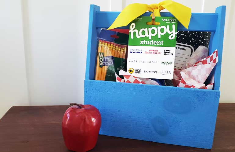 Happy Student gift card for back to school