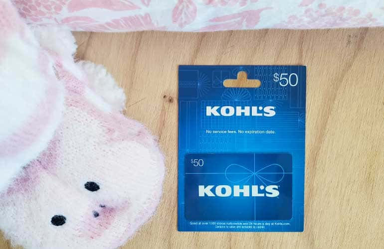 kohls gift card for creating a reading nook