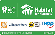 habitat for humanity gift card