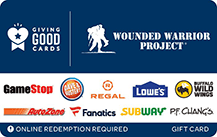 wounded warrior project gift card