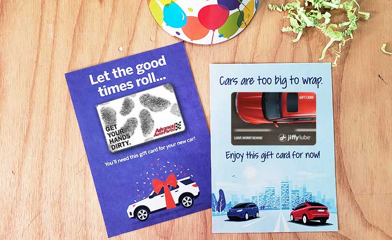 gift card holders for a new car