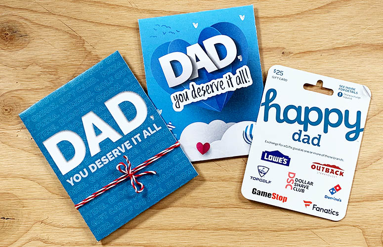 dad deserves gift card holders
