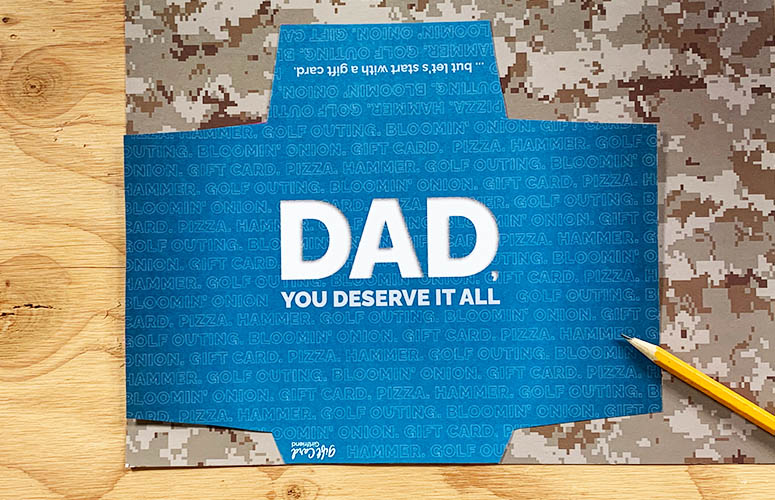 dad open printable gift card holder