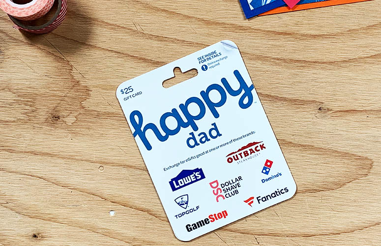 new happy dad gift card