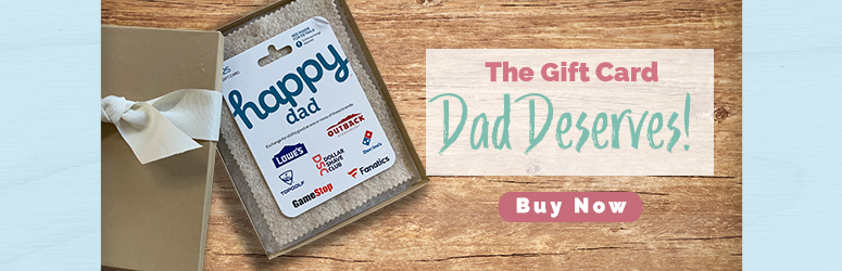 happy dad gift card in a box