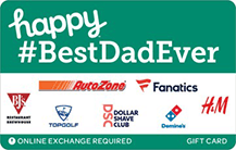happy bestdadever gift card