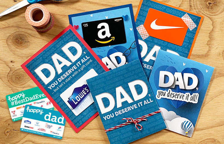 gift cards for fathers day